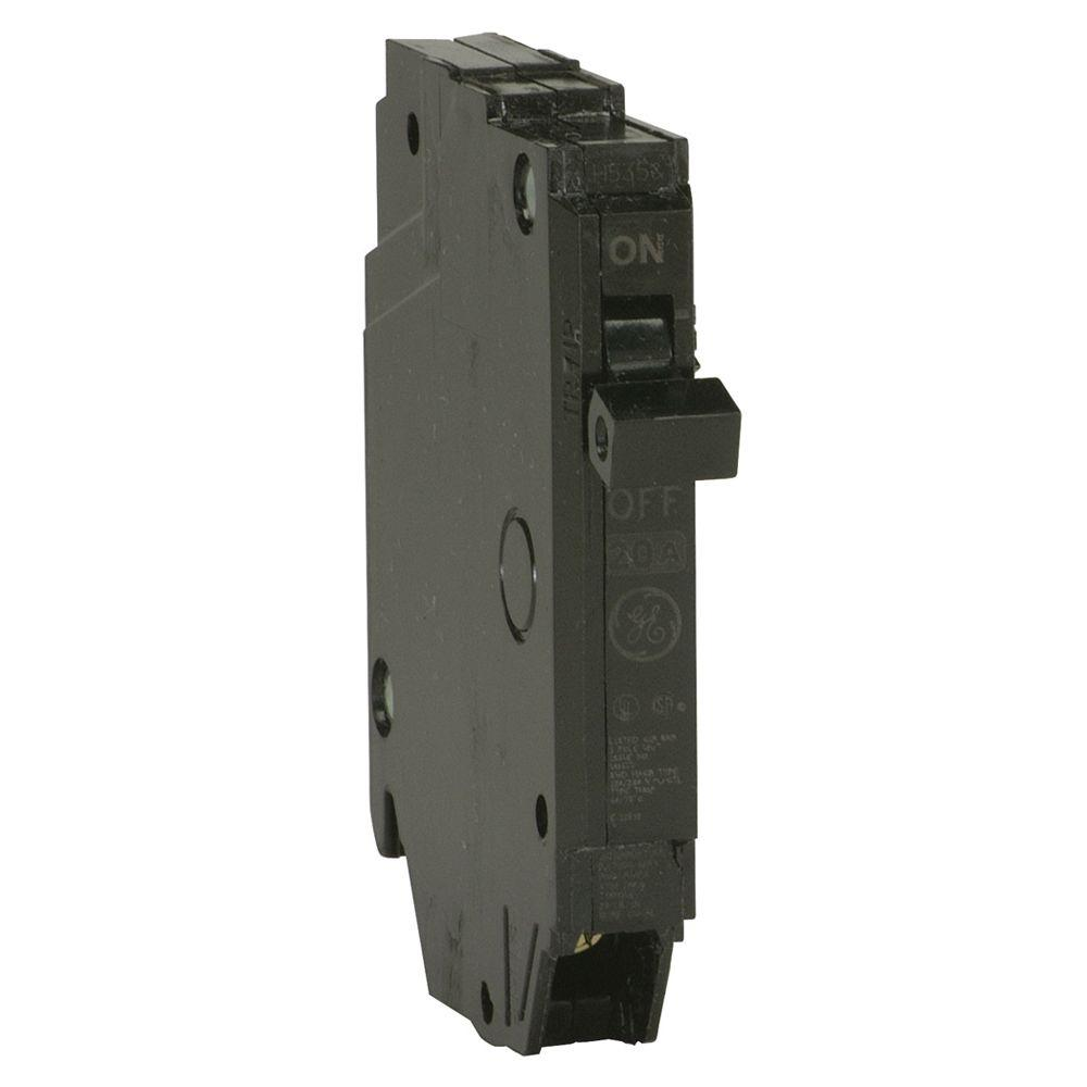 GE Q-Line 20 Amp 1/2 in. Single-Pole Circuit Breaker
