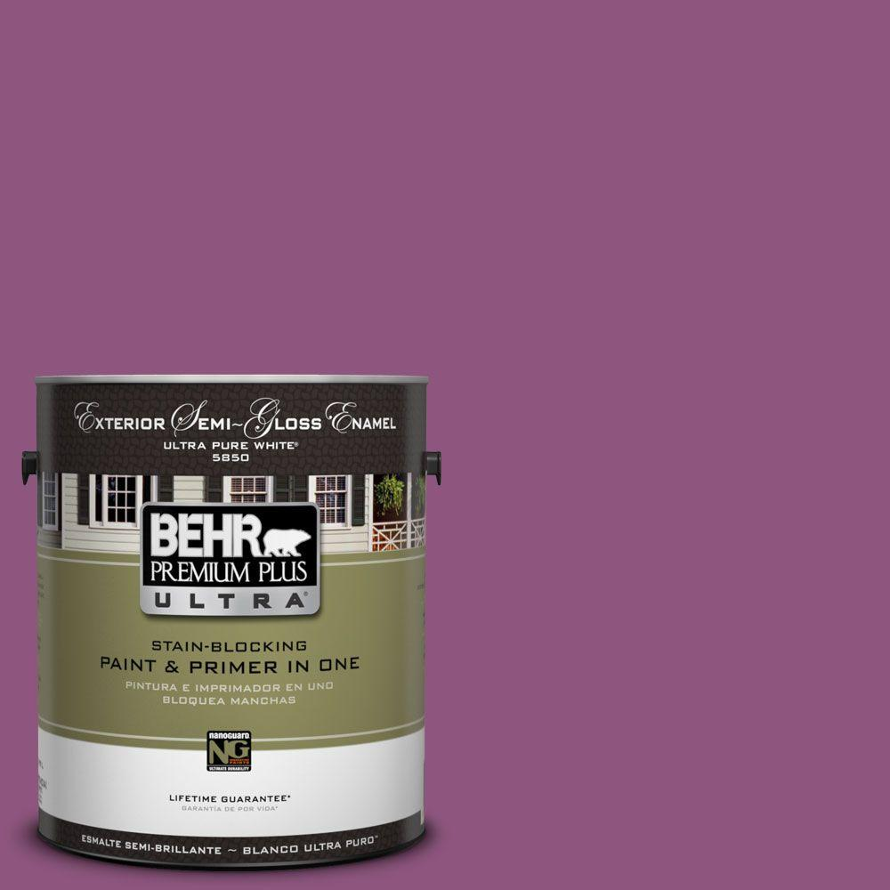 BEHR Premium Plus Ultra 1-Gal. #UL100-19 Peru Semi-Gloss Enamel Exterior Paint-DISCONTINUED