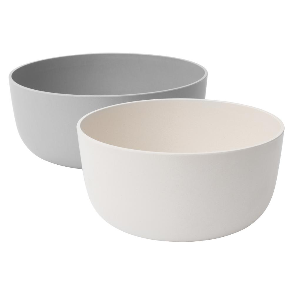 Leo 2-Piece Beige Serving Bowl Set