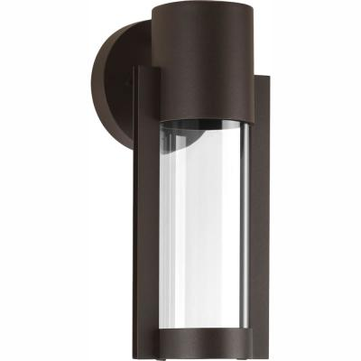 Z-1030 Collection 1-Light Antique Bronze 12 in. Outdoor Integrated LED Wall Lantern Sconce