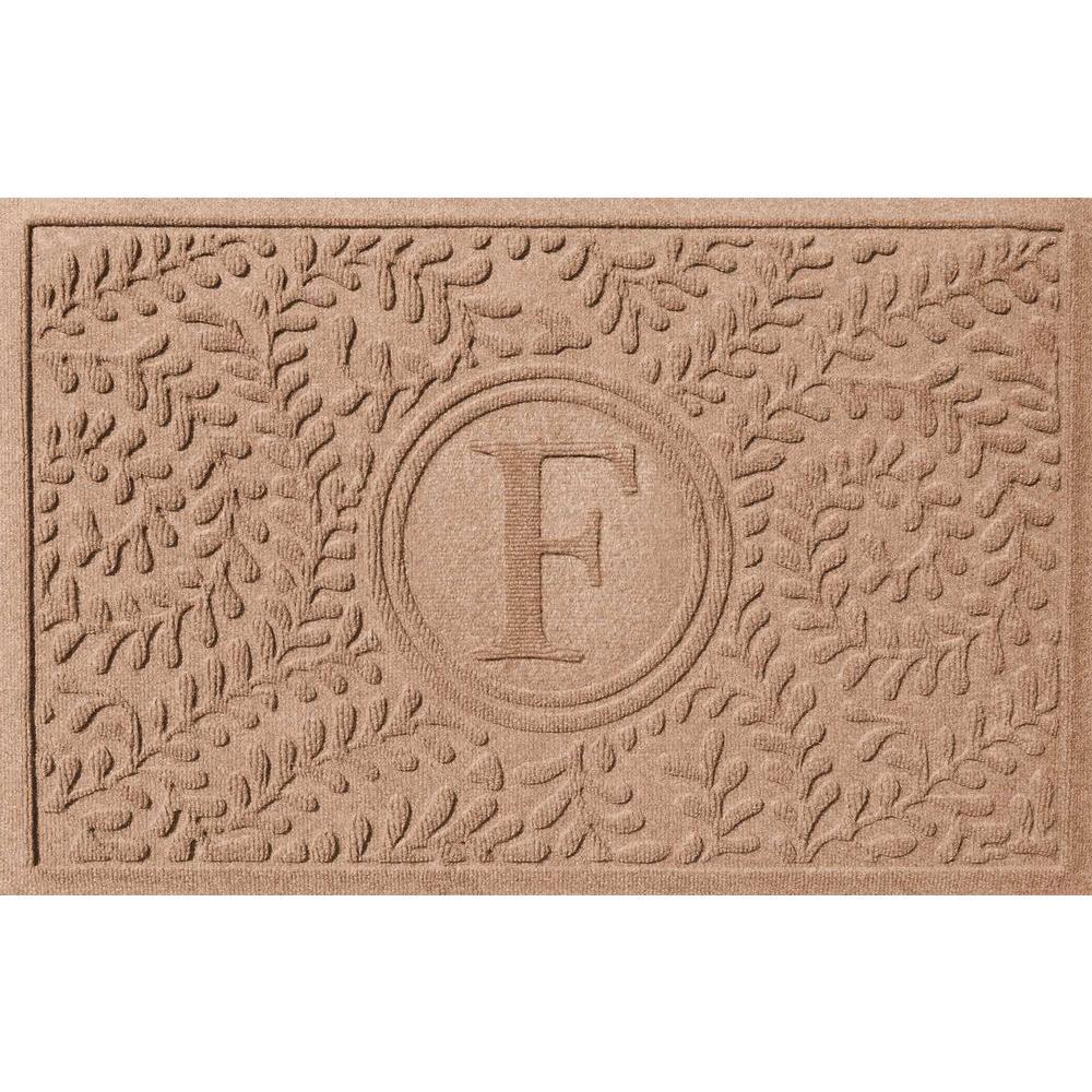 Boxwood Medium Brown 24 in. x 36 in. Monogram F Door