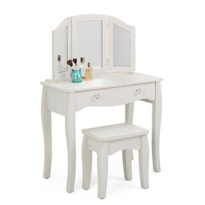 Lindsay 2-Piece White Vanity Set