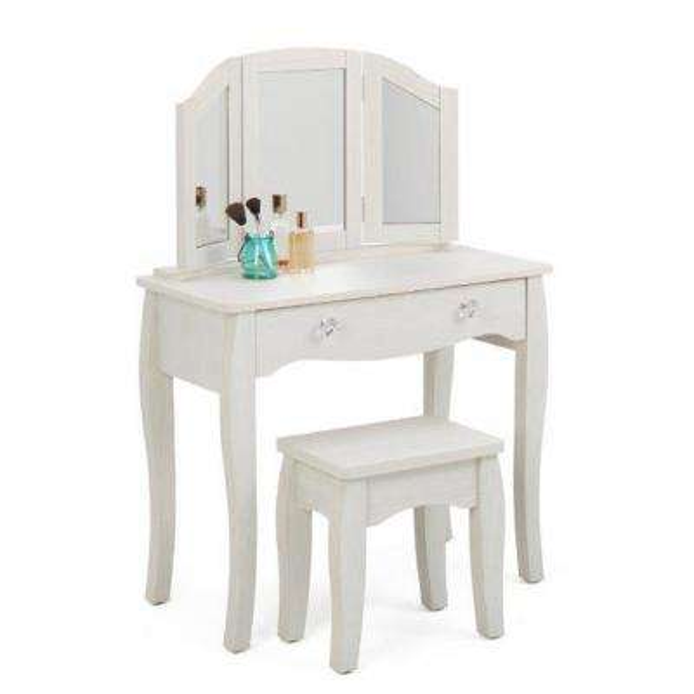 Lindsay 2 Piece White Vanity Set