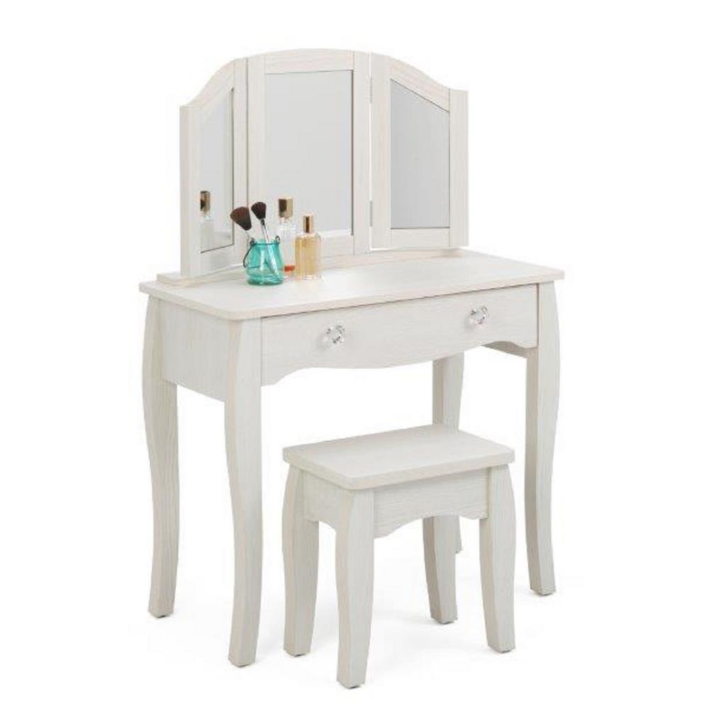 4D Concepts Lindsay 2-Piece White Vanity Set 28429