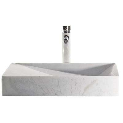 Slope China Vessel Sink in White with Overflow Drain