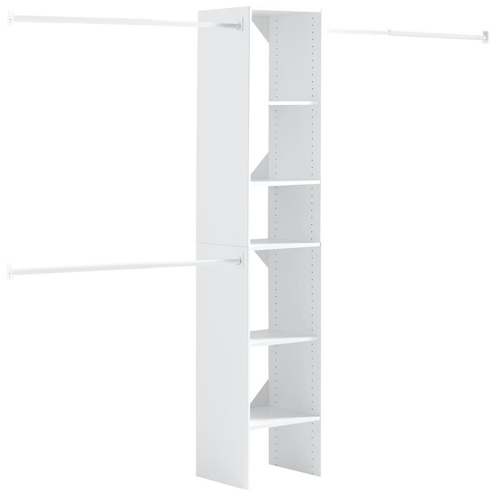 Hampton Bay 16 in. W x 82.5 in. H Custom Closet Organizer in White ...