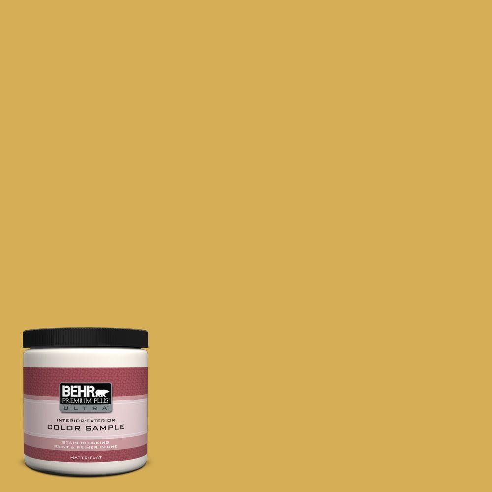 BEHR Premium Plus Ultra 8 oz. #370D-6 Golden Cricket Interior/Exterior Paint Sample