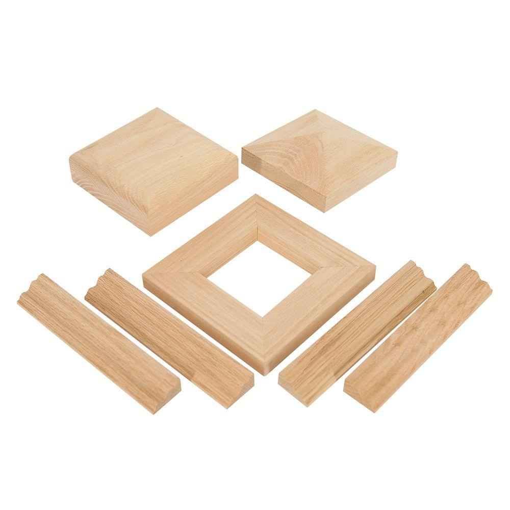 NC-75 White Oak Newel Cap Kit