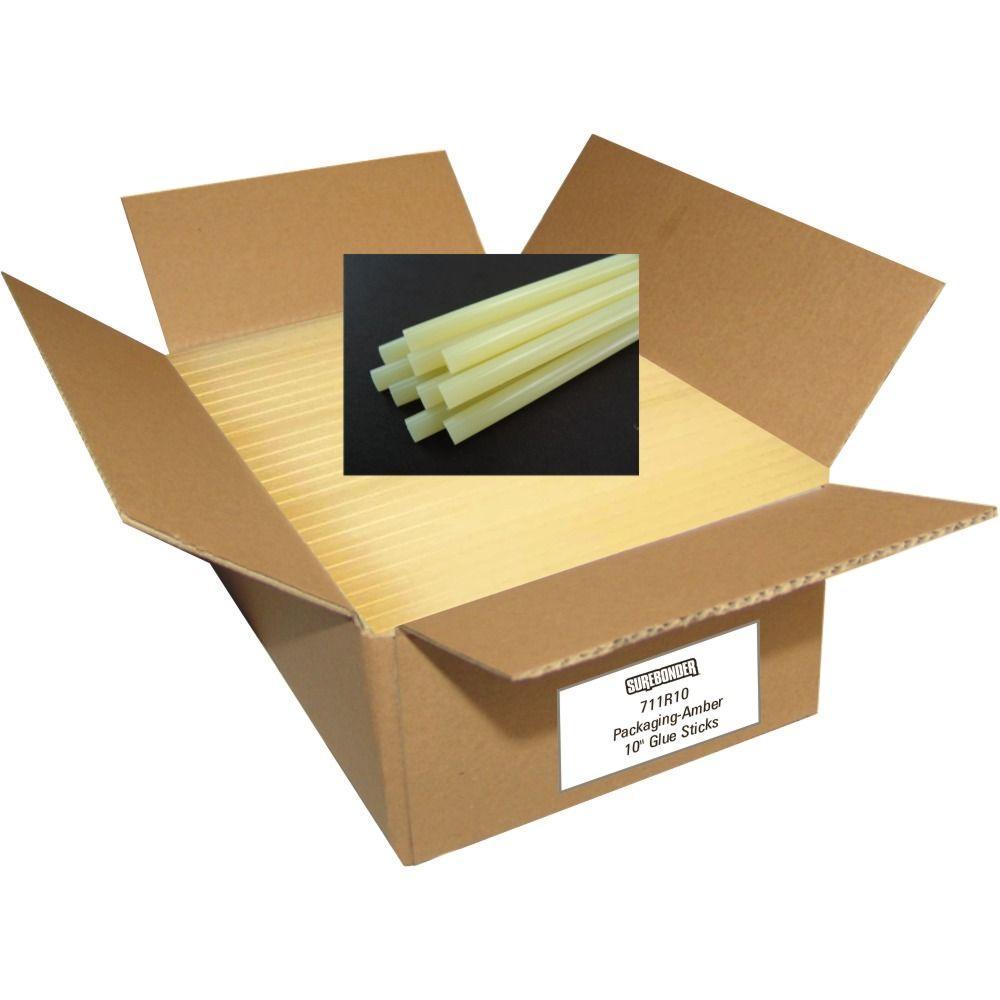 10 in. x 7/16 in. Dia Fast Set Full Size Glue Sticks (25 lb. Bulk Pack)