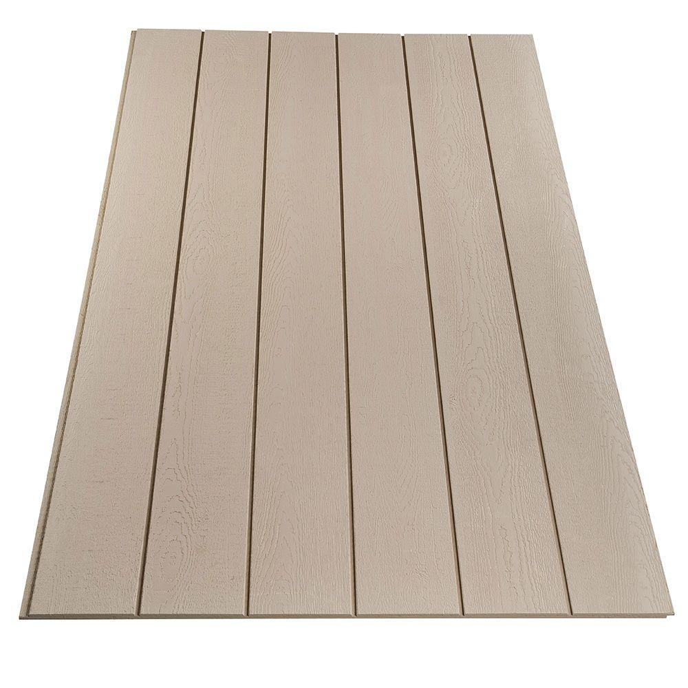 Plywood siding panel duratemp primed 8 in oc common 19 for Wood grain siding panels