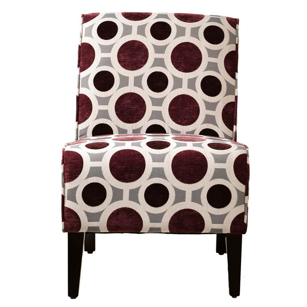 Home Decorators Collection Vincent Mulberry 22.5 in. W Slipper Chair