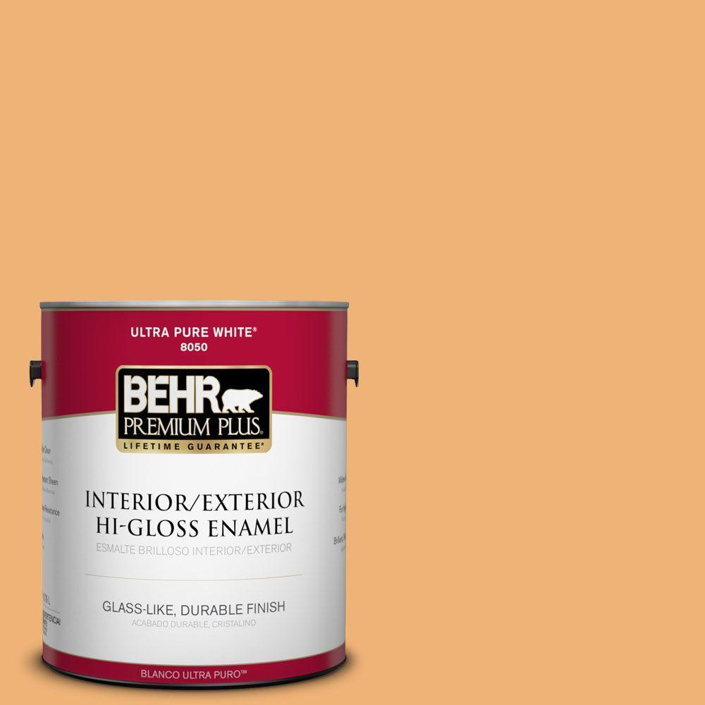 BEHR Premium Plus 1-gal. #290D-4 Arizona Hi-Gloss Enamel Interior/Exterior Paint