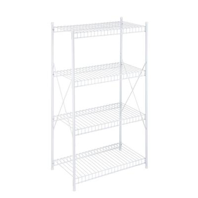 White 4-Tier Metal Wire Shelving Unit (23 in. W x 41 in. H x 13 in. D)