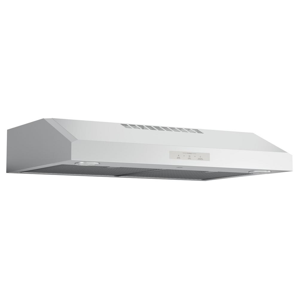 GE Profile 30 in. Convertible Under the Cabinet Range Hood with LED Light in Stainless Steel