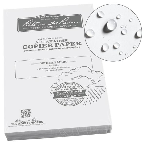 All-Weather 8-1/2 in. x 14 in. 20 lbs. Copier Paper, White (200-Sheet Pack)