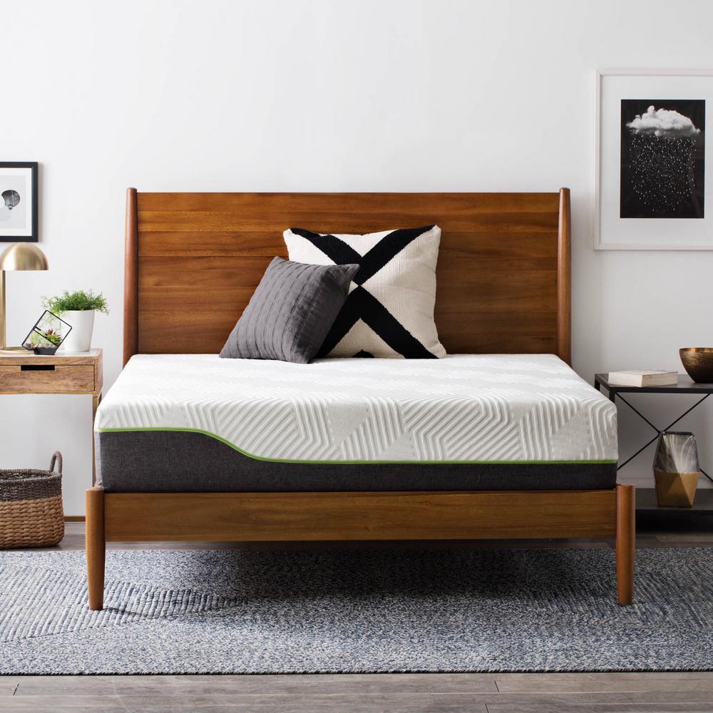 lucid 10 in king premium support memory foam hybrid mattress lubb10kk70lh the home depot. Black Bedroom Furniture Sets. Home Design Ideas