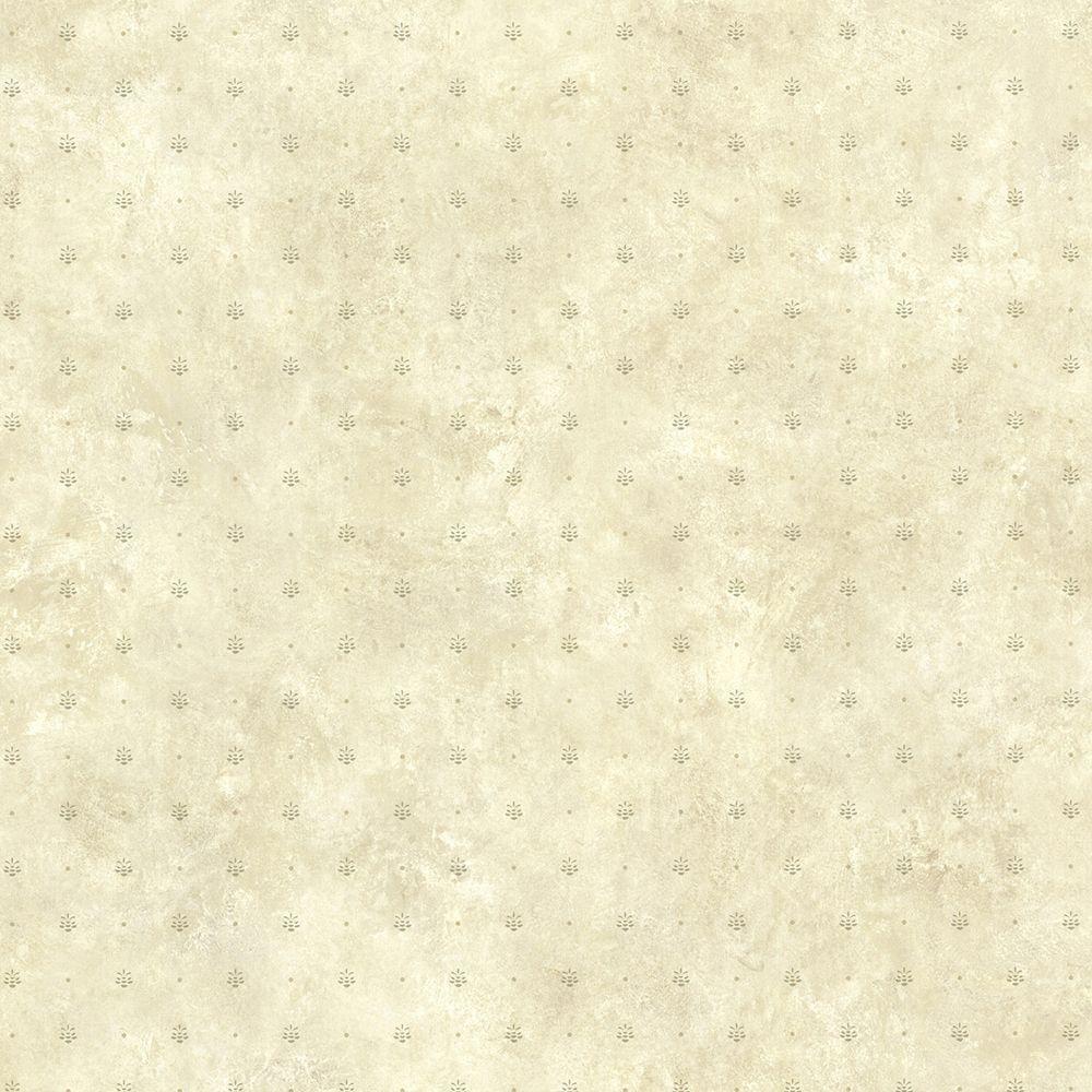 Kerr Olive Pinecone Ditzy Wallpaper