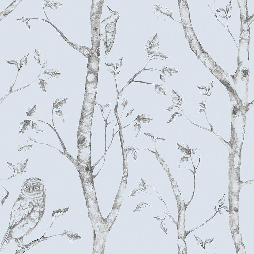 Blue Woods Peel and Stick Wallpaper Sample