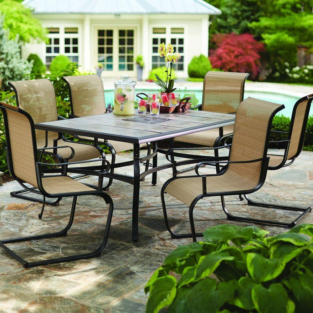 Home Depot Belleville 7 Piece Patio Dining Set Customer