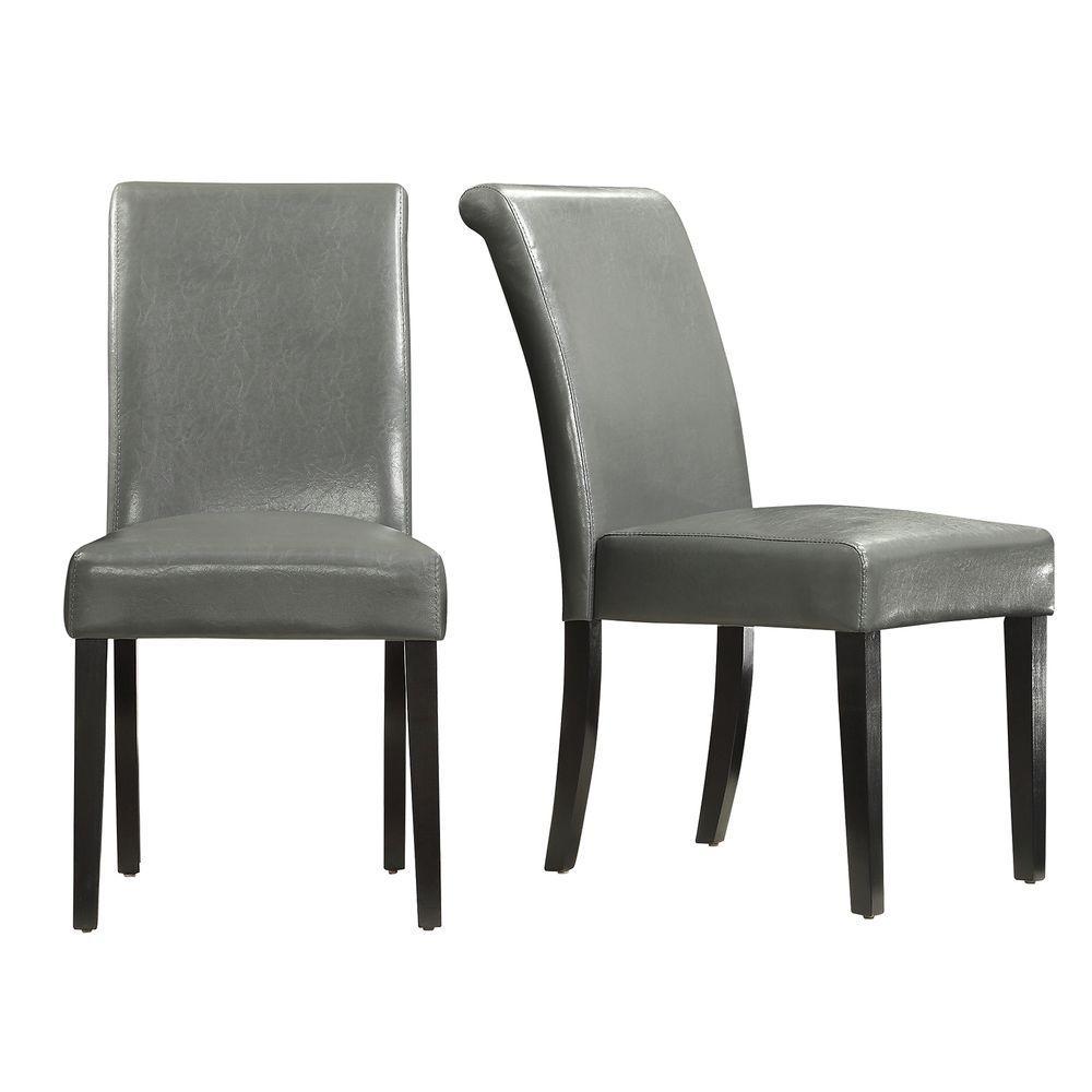 HomeSullivan Fairfield Stone (Grey) Faux Leather Dining C...