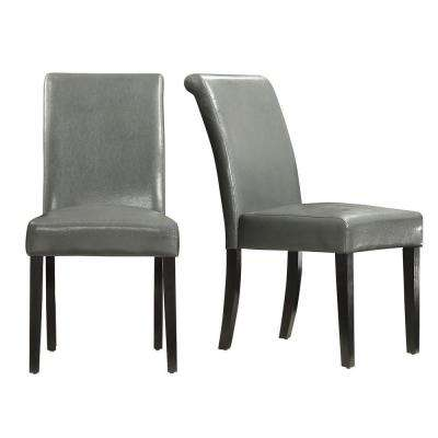 Fairfield Stone Faux Leather Dining Chair (Set of 2)