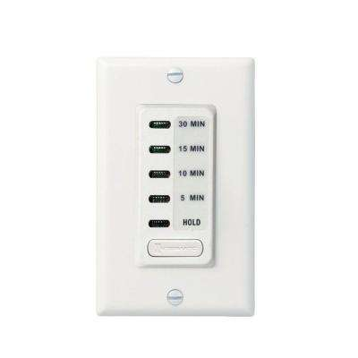 15 Amp 30-Minute Indoor In-Wall Electronic Countdown Timer with Preset Times, White