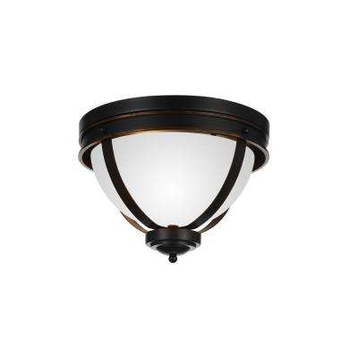 Irene 3-Light Autumn Bronze Flushmount
