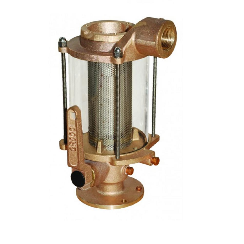 Groco 1-1/4 in. Seacock / Raw Water Strainer Combination