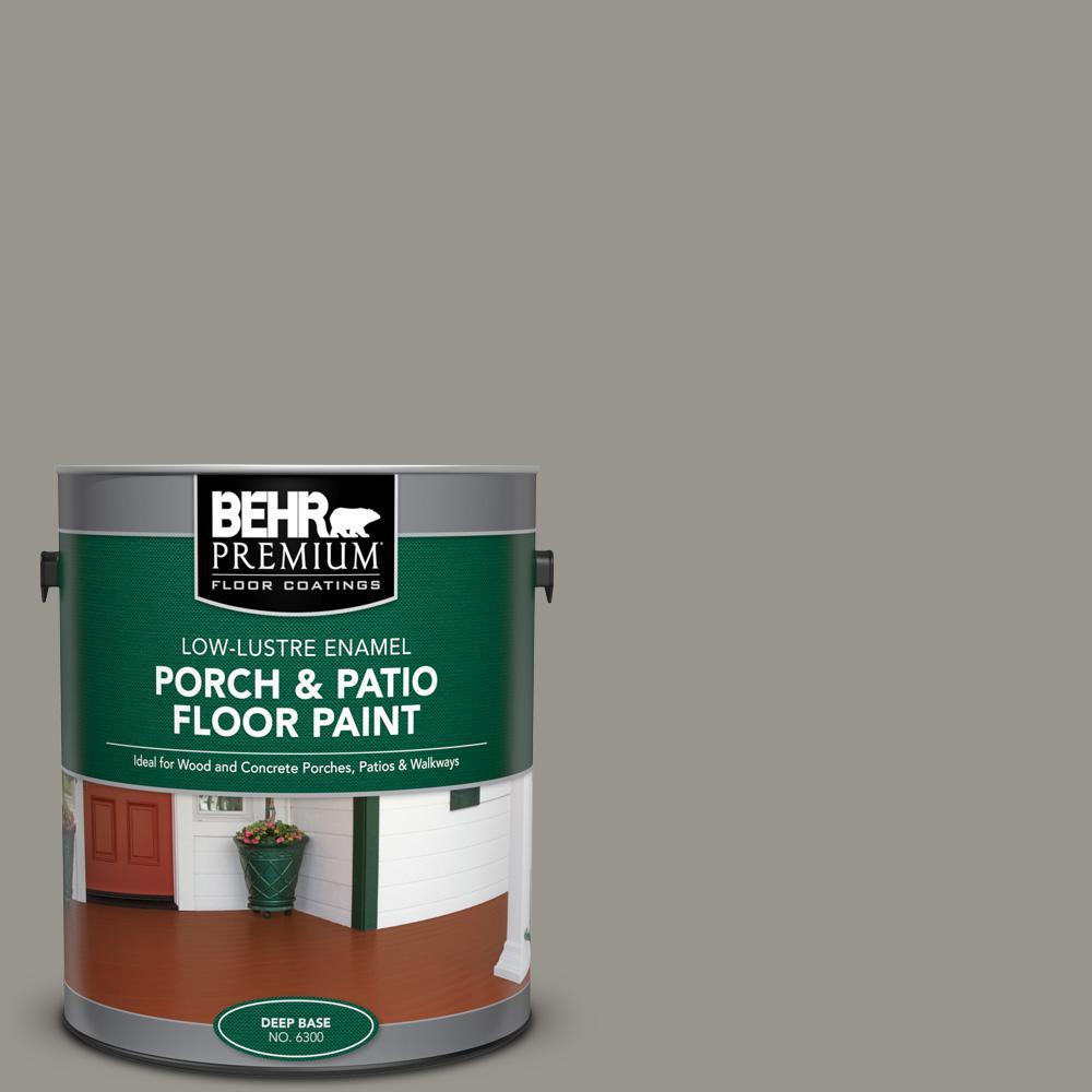 1 gal. #N360-4 Battleship Gray Low-Lustre Enamel Interior/Exterior Porch and Patio Floor Paint
