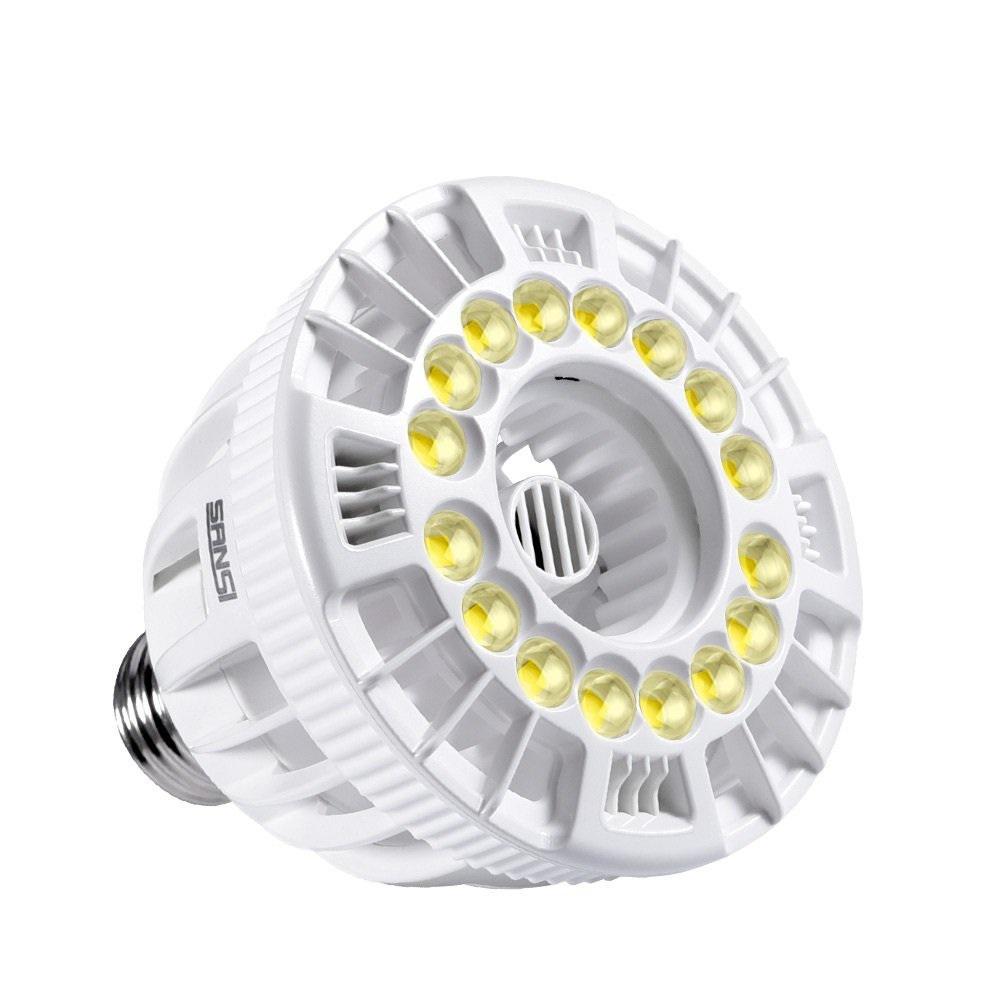 SANSI 15-Watt E26 Full Spectrum LED Grow Light Bulb for Hydroponic Indoor Garden, Sunlight White, Full Cycle