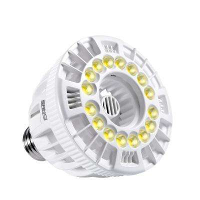 15-Watt E26 Full Spectrum LED Grow Light Bulb for Hydroponic Indoor Garden, Sunlight White, Full Cycle