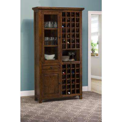 Tuscan Retreat 52-Bottles Tall Wine Storage in Antique Pine Finish
