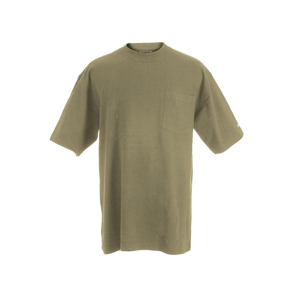 Men's 5 XL Tall Desert Cotton and Polyester Heavy-Weight Pocket T-Shirt