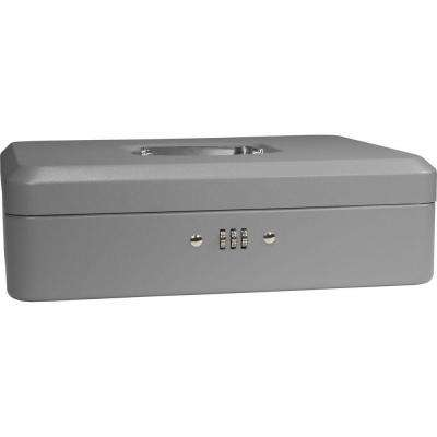 0.12 cu. ft. Cash Box Safe with Combination Lock, Grey