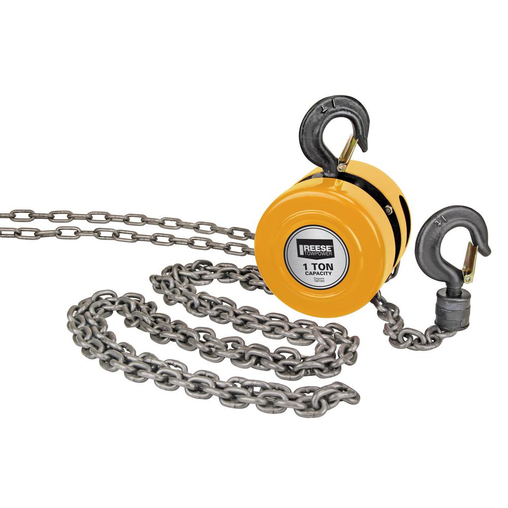 Reese Towpower 1-Ton Chain Hoist-7067300 - The Home Depot on