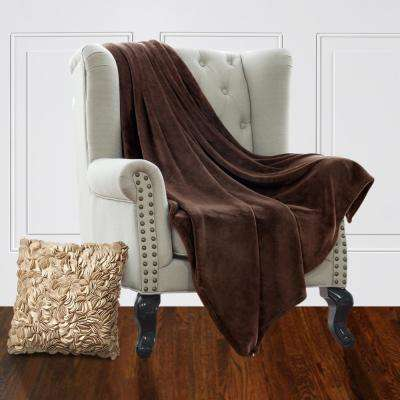 Jill Morgan Brown Fleece Queen Blanket