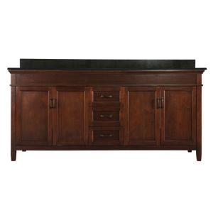 Foremost Ashburn 73 inch W x 22 inch D Double Bath Vanity in Mahogany with Granite Vanity... by Foremost