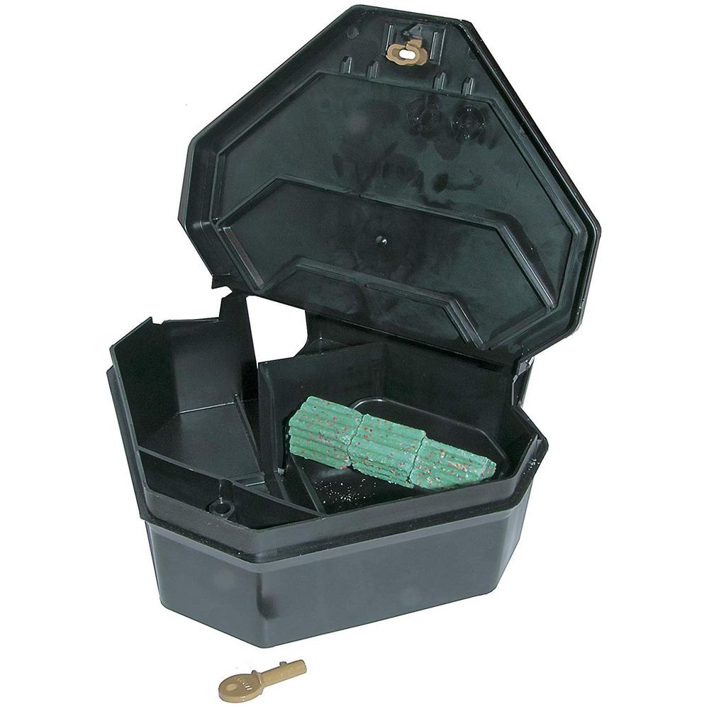 JT Eaton Gold Key Rat Depot Bait Station with Solid Lid