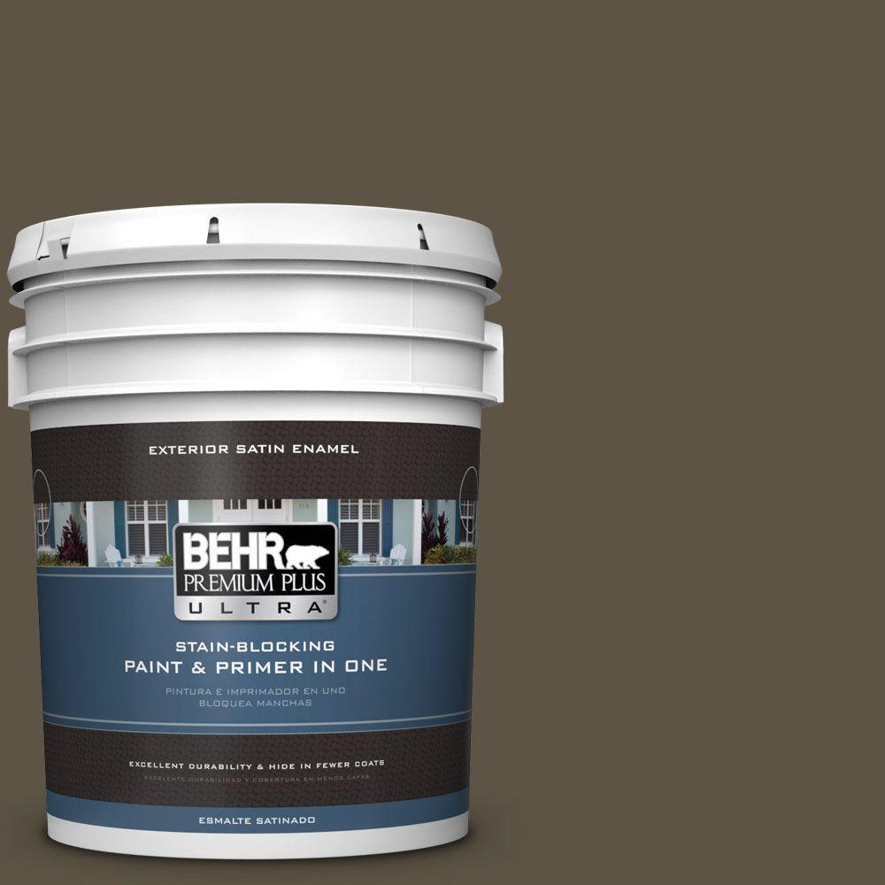 BEHR Premium Plus Ultra 5-gal. #770D-7 Wanderer Satin Enamel Exterior Paint