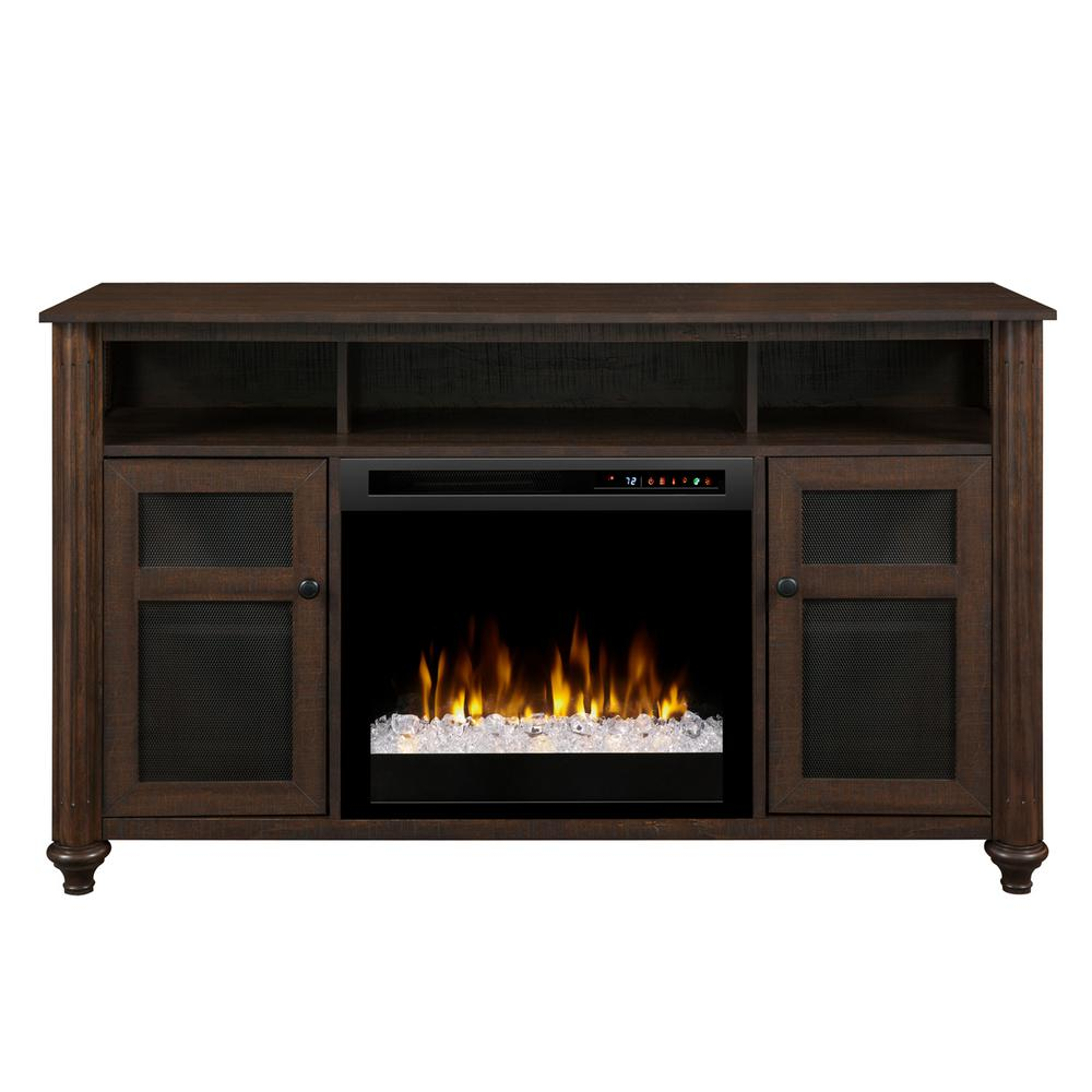 Dimplex 56 in media console in warm grainery xavier 23 in - Going to bed with embers in fireplace ...