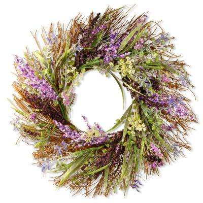 22 in. Mixed Leaf Spring Wreath