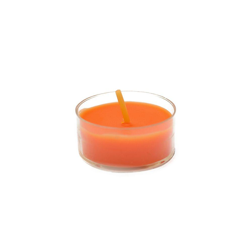 Zest Candle 1.5 in. Orange Tealight Candles (50-Pack)