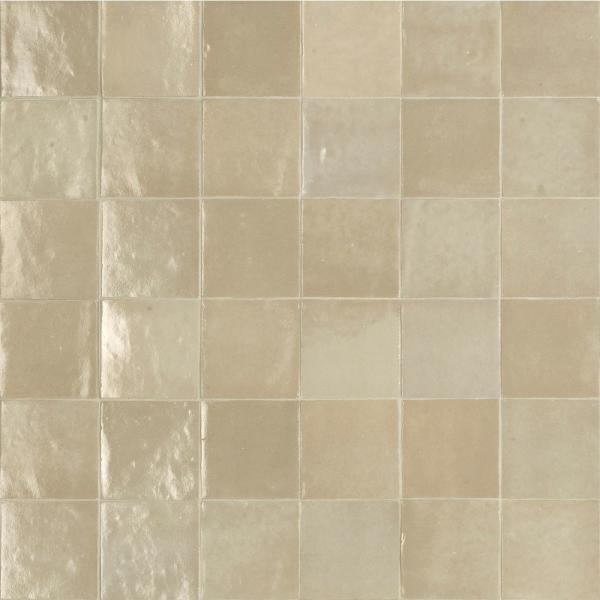 Zellige Lana 4 in. x 4 in. Glazed Ceramic Wall Tile (5.81 sq. ft. / case)