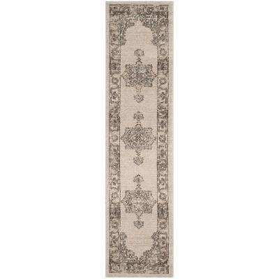 Carmel Beige/Brown 2 ft. x 10 ft. Runner Rug