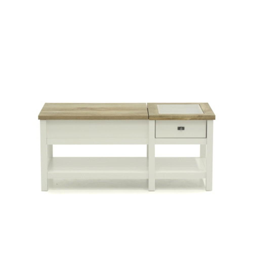 Sauder Cottage Road Soft White Lift Top Coffee Table