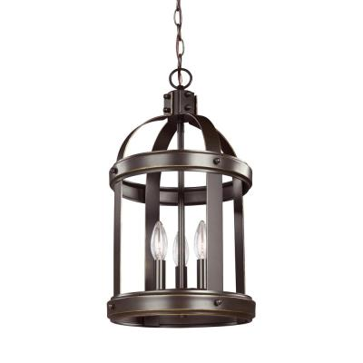 Lonoke 3-Light Heirloom Bronze Hall-Foyer Pendant