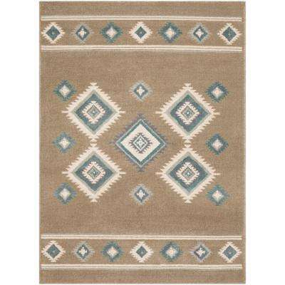 Eveline Camel 7 ft. 10 in. x 10 ft. 3 in. Mexican Area Rug