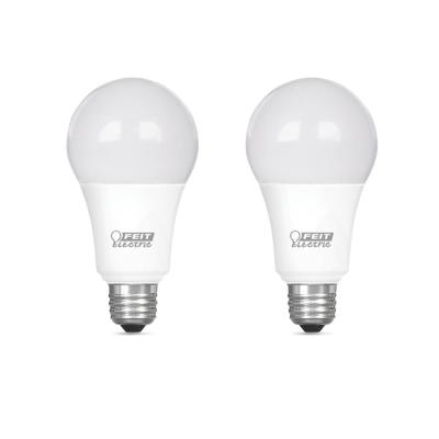 100-Watt Equivalent A19 Dimmable CEC ENERGY STAR 90+ CRI Indoor LED Light Bulb, Daylight (2-Pack)