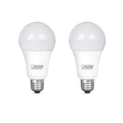 100-Watt Equivalent A19 Dimmable CEC Title 20 Compliant LED ENERGY STAR 90+ CRI Light Bulb, Daylight (2-Pack)