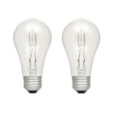 100W Equivalent Eco-Incandescent A19 Clear Dimmable Light Bulb (2-Pack)